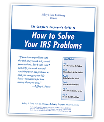 photo of cover for pdf guide How to Solve Your IRS Problems